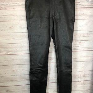 Helmut Lang 100% Lamb Leather Pants